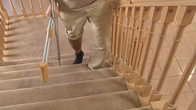 How to Go Up and Down the Stairs with Crutches